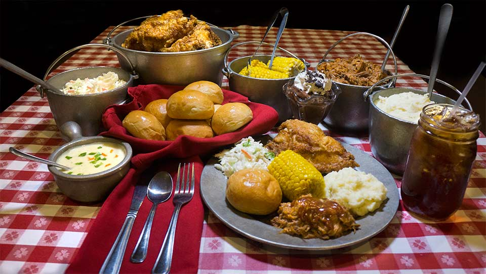All you can eat dinner at the Hatfield & McCoy Dinner Feud show