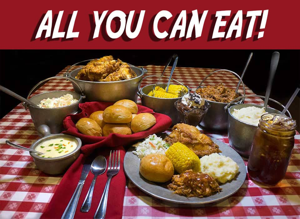 All You Can Eat Southern Homestyle Feast - Hatfield & McCoy Dinner Feud
