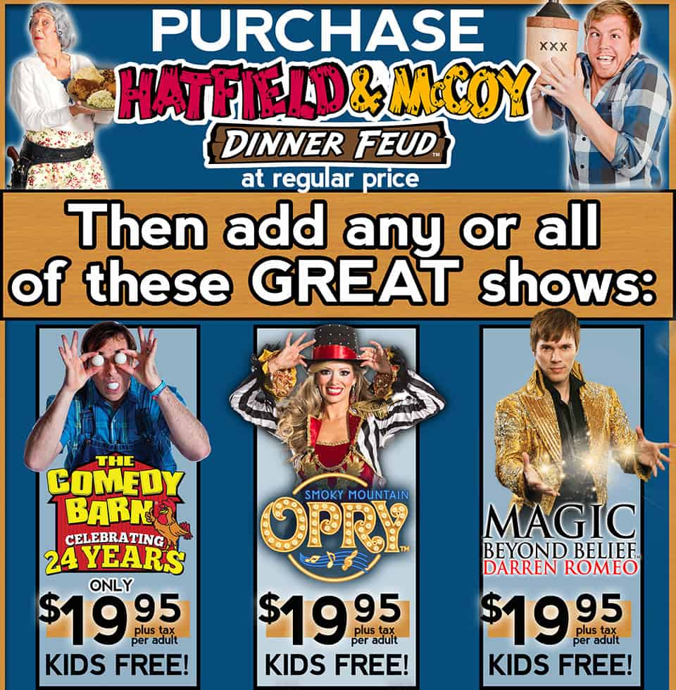Discount Tickets Hatfield & McCoy Dinner Show Pigeon Forge