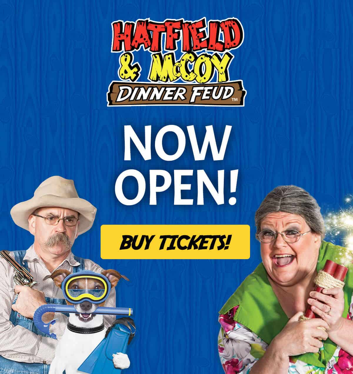 Hatfield & McCoy Dinner Feud is Now Open!